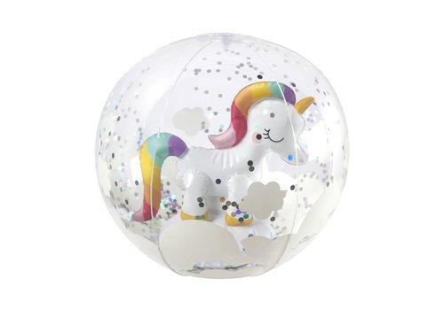 Sunnylife Sunnylife 3D Inflatable Beach Ball Unicorn