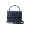 """Denise Roobol Denise Roobol """"Mini Handle Bag"""" Dark Blue Velvet"""
