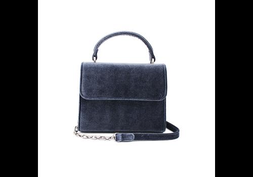 Denise Roobol Denise Roobol Mini Handle Bag Donker Blauw Fluweel