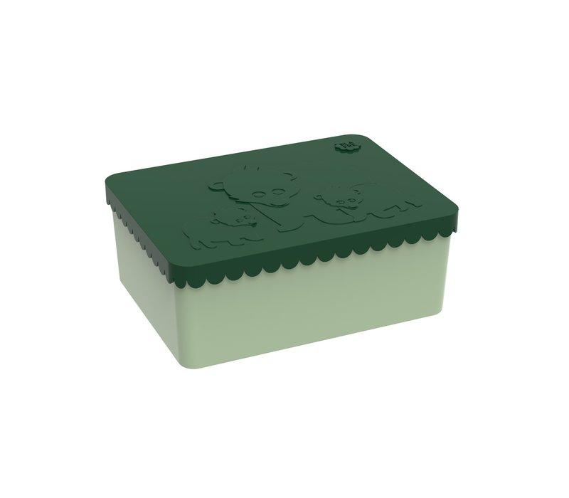 Blafre Lunchbox Bear Dark Green