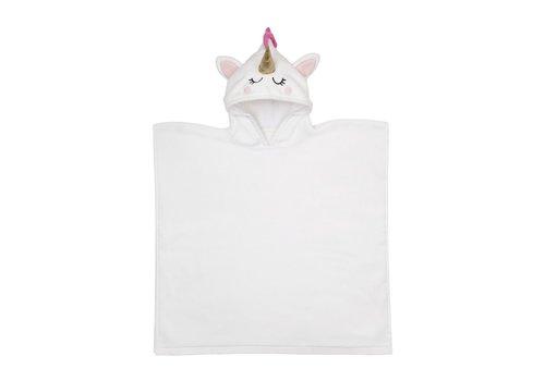 Sunnylife Sunnylife Kids Hooded Beach Towel 'Unicorn' White