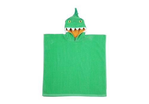 Sunnylife Sunnylife Strandlaken met Kapje Krokodil Groen
