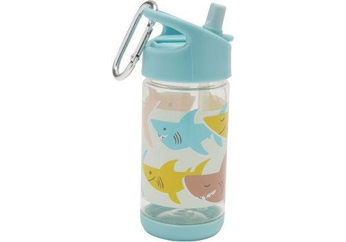 "Sugarbooger Sugarbooger Flip & Sip Drinking Bottle "" Smiley Shark"""
