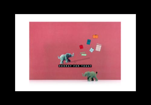 Leuke Kaartjes Leuke Kaartjes Greeting Card Hooray For Today Elephant
