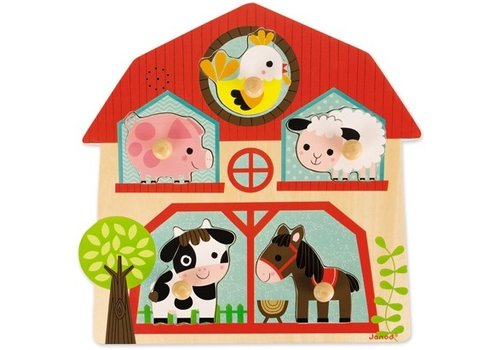 Janod Janod Musical Puzzle Farm Friends