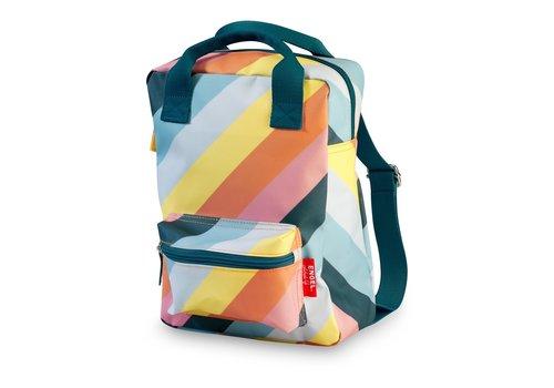 Engel Engel Backpack Stripe Rainbow Medium