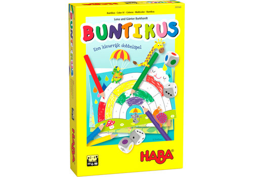 Haba Haba Dice Game Color It!