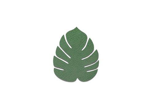 LIND DNA LIND DNA Glass Mat Monstera Leaf Hippo Forest Green