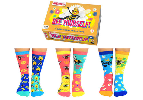 Odd Socks ODD Socks Lady Socks in a Box Bee Yourself 3 pairs size 37-42