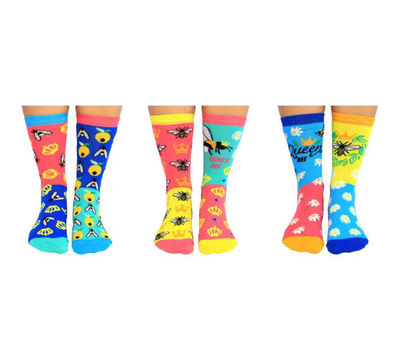 ODD Socks Dames Sokken Bee Yourself in Box 3 paar maat 37-42