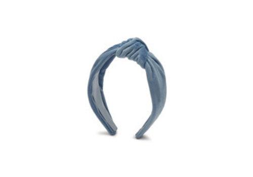 Estella Bartlett Estella Bartlett Fluwelen Haarband met Knoop Alice Blauw