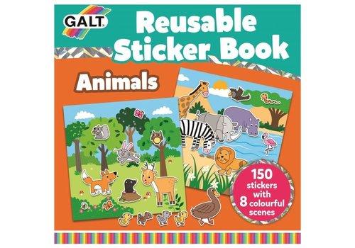 Galt Galt Book with Reusable Stickers - Animals