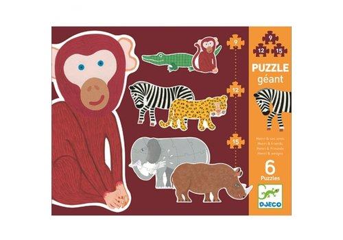 Djeco Djeco Giant Puzzle Henri & Friends