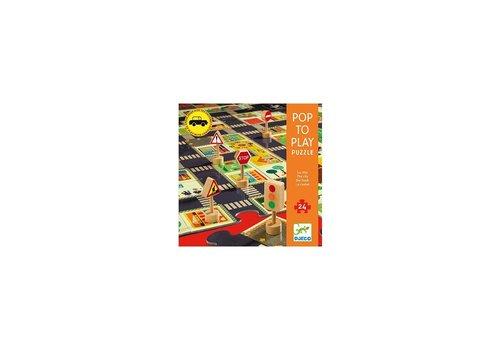 Djeco Djeco Pop to Play Puzzel De Stad 24 st