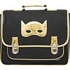 Caramel & Cie Caramel & Cie Schoolbag Black with Golden Mask Medium