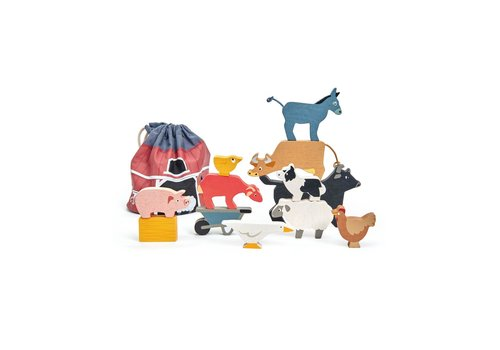 Tender Leaf Toys Tender Leaf Toys Pile Game Farm Animals