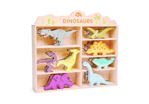 Tender Leaf Toys Tender Leaf Toys Set 8 Houten Dinos in Kastje
