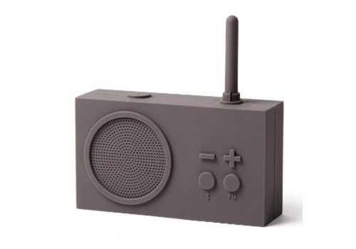 Lexon Lexon Tykho 3 Bluetooth Luidspreker & FM Radio Grijs Taupe
