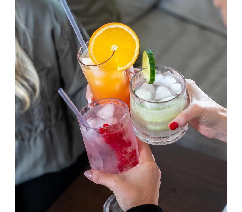 Koziol Set van 8 Herbruikbare Rietjes Cheers