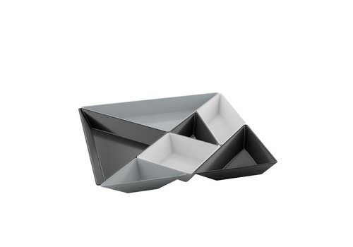Koziol Koziol Gourmet Set Tangram  Black-White-Grey