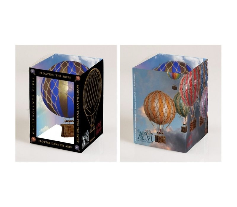 Authentic Models Hot air Balloon Floating The Skies Blue 8,5 cm