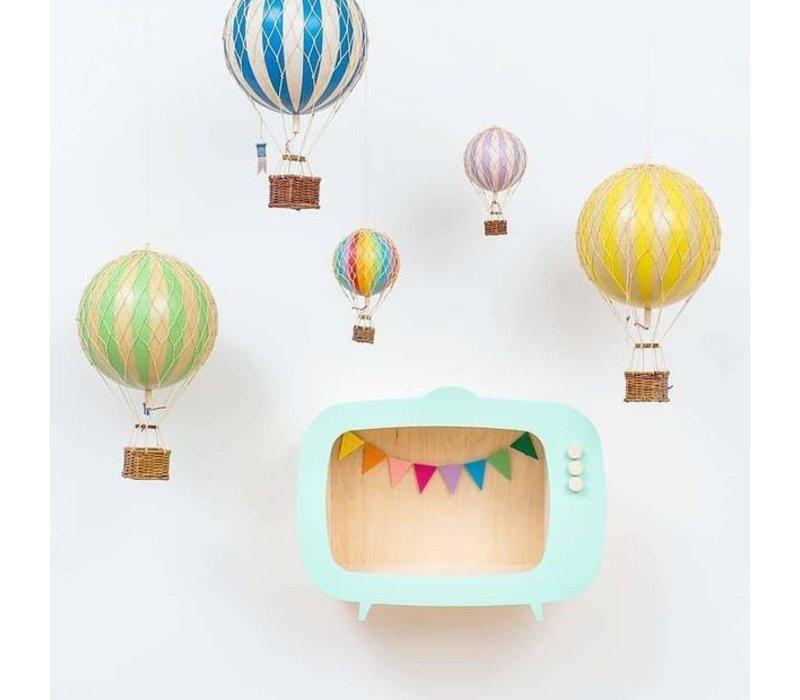 Authentic Models Luchtballon Jules Verne Rainbow Pastel 42 cm