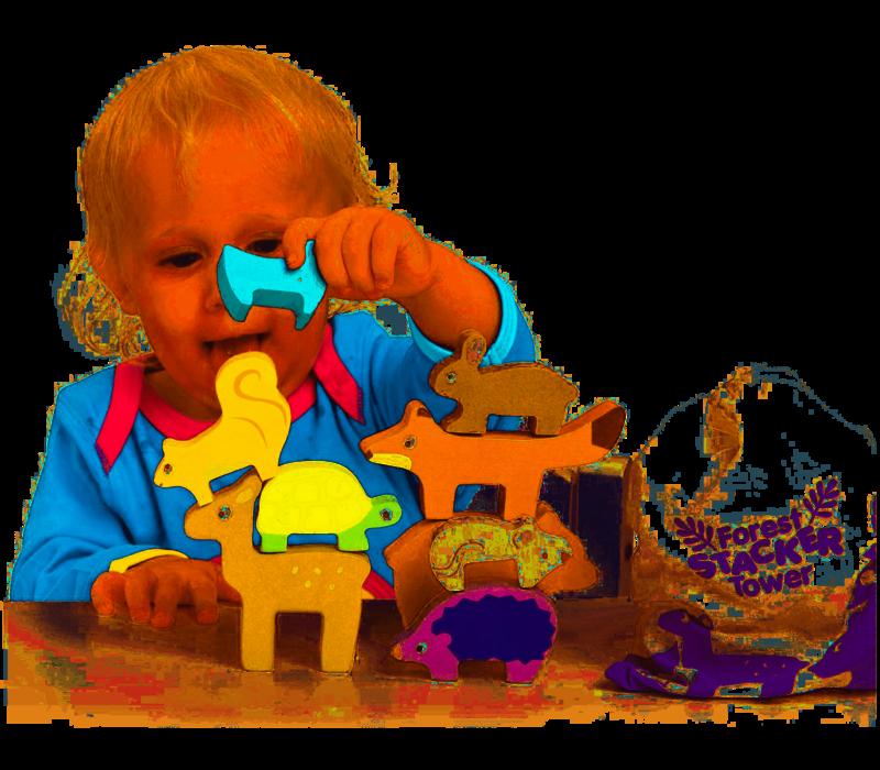 Le Toy Van Stapeltoren Bosdieren