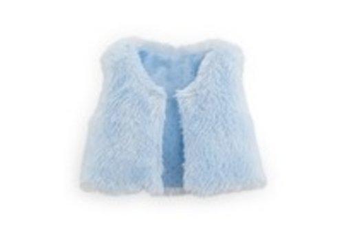 Corolle Corolle Mouwloos Jasje Nepbont Blauw voor Ma Corolle Pop 36 cm