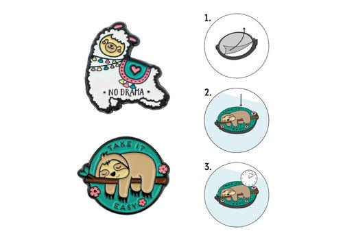 Legami Legami Set van 2 Metalen Stickers Take It Easy voor Smartphone