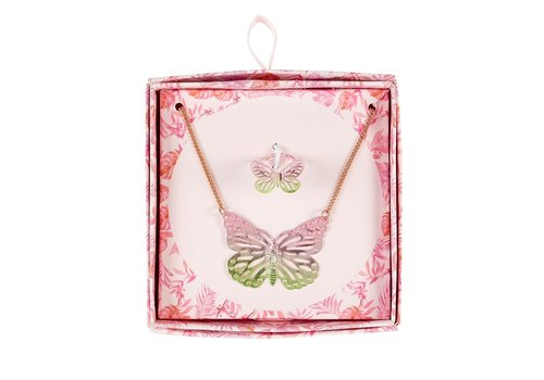 Souza! Souza! Gift Box Necklace + Ring Butterfly