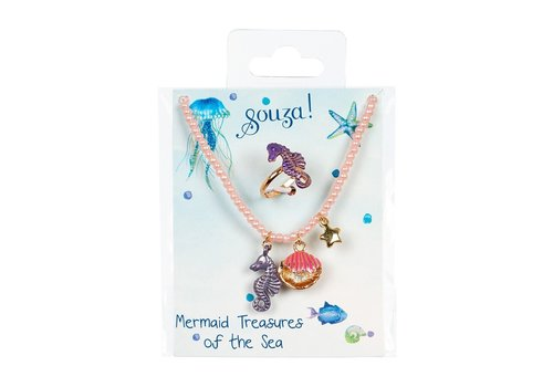 Souza! Souza! Gift set Patty Necklace + Ring  Mermaid