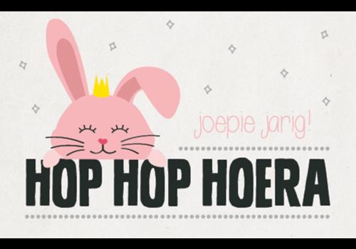Leuke Kaartjes Leuke Kaartjes Wenskaart Hop Hop Hoera Joepie Jarig!
