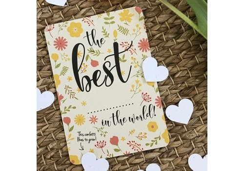 Bloom Bloom Greeting Card with Hearts The Best...