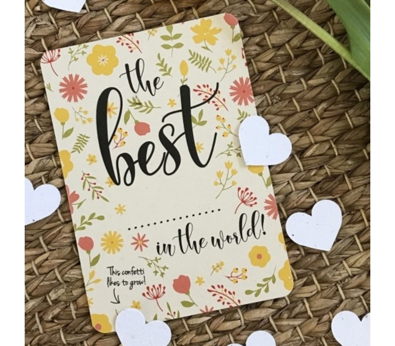 Bloom Greeting Card with Hearts The Best...
