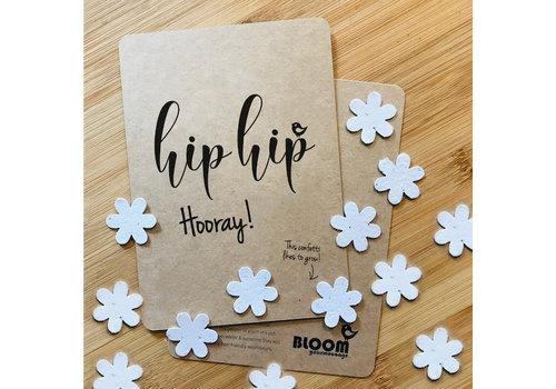 Bloom Bloom Bloeiwenskaart met Bloemetjes HipHipHooray!