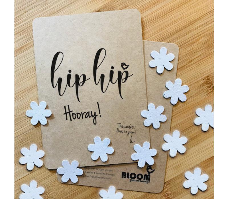 Bloom Greeting Card with Flowers HipHipHooray!