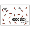 Bloom Bloom Greeting Card with Carrot Seeds Good Luck