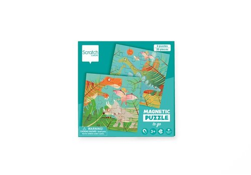 Scratch Scratch Magnetic Puzzle Book To Go Dino
