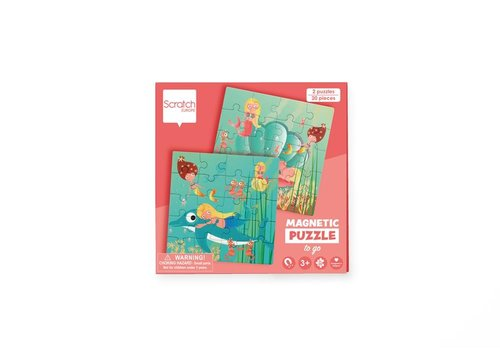 Scratch Scratch Magnetic Puzzle Book To Go Mermaids