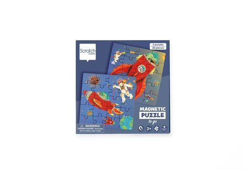 Scratch Scratch Magnetic Puzzle Book To Go  Space