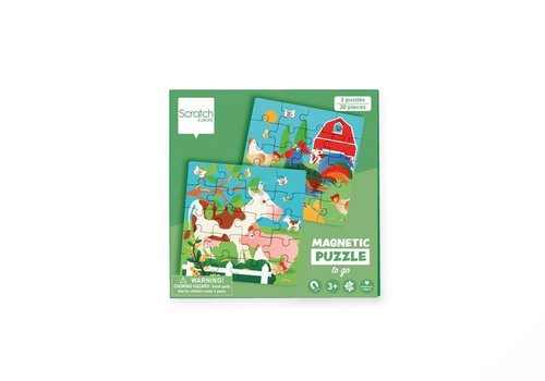 Scratch Scratch Magnetic Puzzle Book To Go Farm
