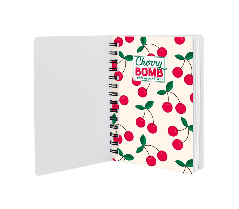 Legami Week Agenda Small Cherry Bomb 2021