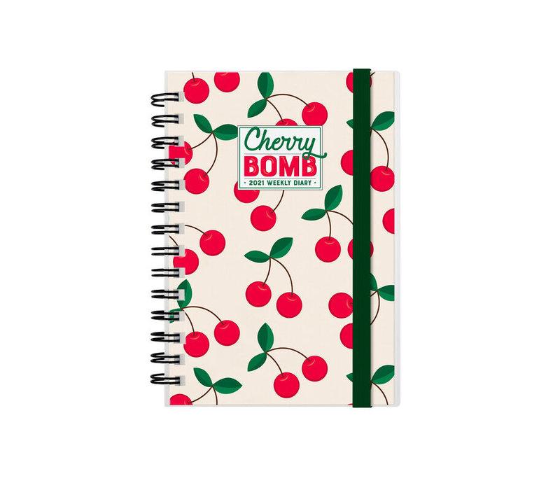 Legami Weekly Diary Small Cherry Bomb 2021