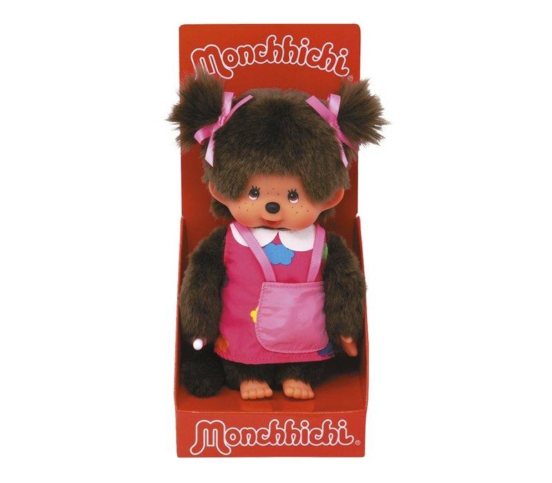 Monchhichi Meisje met Tasje en Draagtouw 20 cm