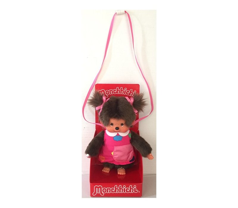 Monchhichi Girl with Bag and Carrying Rope 20 cm