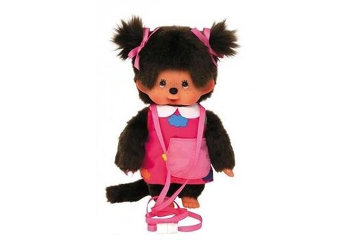 Monchhiichi Monchhichi Girl with Bag and Carrying Rope 20 cm