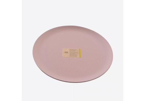 Point-Virgule Point Virgule Bamboo Fibre Plate Powder Pink 26 cm