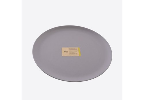 Point-Virgule Point Virgule Bamboo Fibre Plate Cement Grey 26 cm