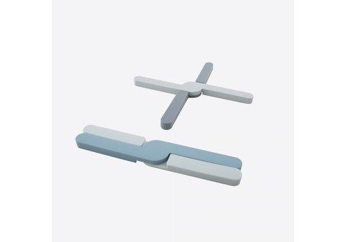 Dotz Dotz Opvouwbare Panonderzetter Silicone Grijs of Blauw