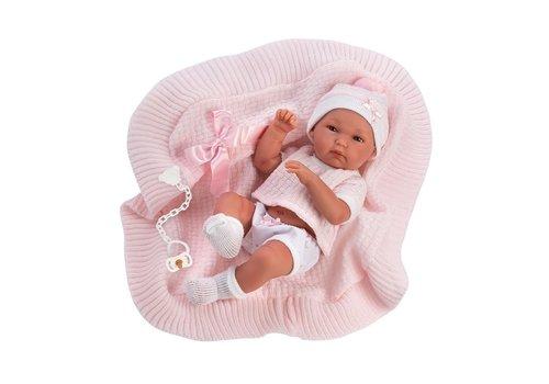 LLorens LLorens Babypop Bimba met Roze Deken 35 cm